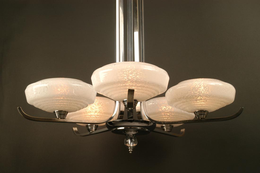 grand lustre art d co 1930 1940 lighting deco luminaires. Black Bedroom Furniture Sets. Home Design Ideas