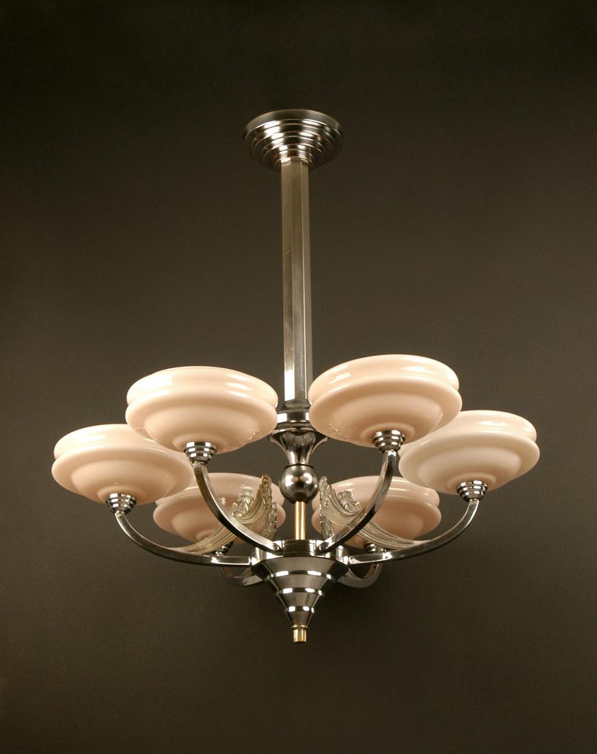 lustre art deco bronze fondu laiton nickel s et coupelles. Black Bedroom Furniture Sets. Home Design Ideas